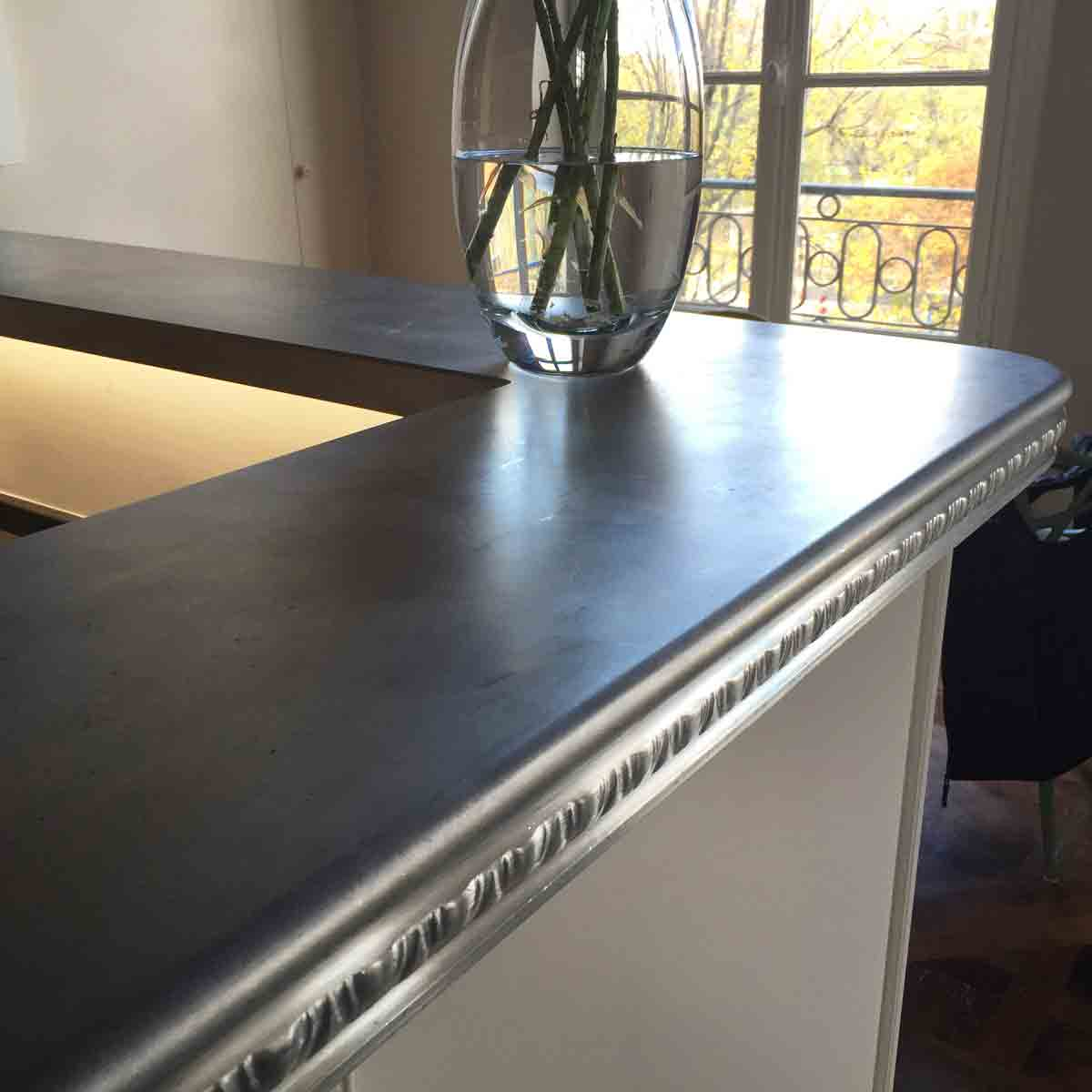 Traditional French Zinc bar countertop